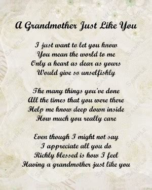 Grandmother Passed Away Quotes Prayer. QuotesGram