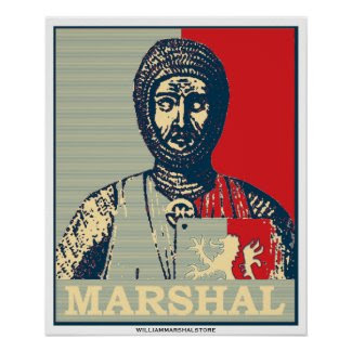 William Marshal Mirror of Chivalry Red & Blue Post print