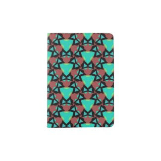 Passport Holder with Brilliant Abstract Design