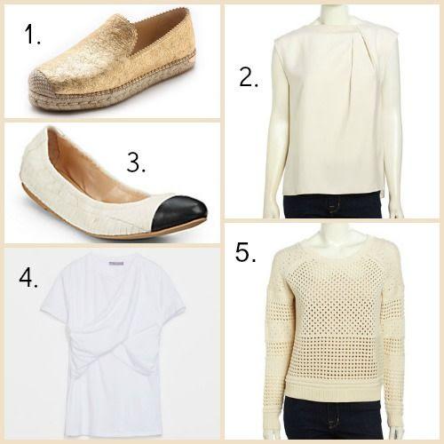 Stuart Weitzman Espadrilles - Halston Heritage Blouse - Loeffler Randall Flats - Zara Tee Shirt - Halston Heritage Sweater
