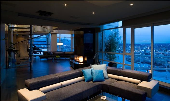 The $10 Million Aquarius Penthouse Feels Like a Nightclub