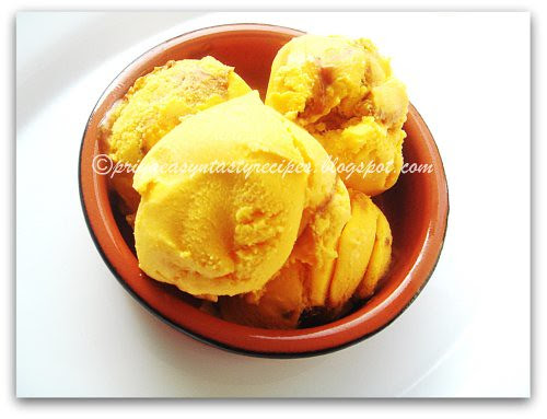Eggless Mango ice cream