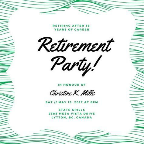 Customize 3,999  Retirement Party Invitation templates