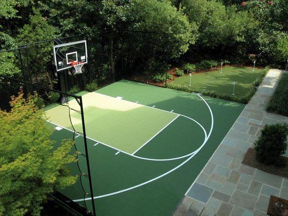backyard basketball court ideas 8