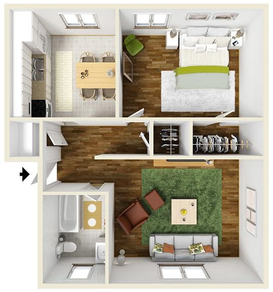 One Bedroom Apartments Rochester Ny | Eqazadiv Home Design