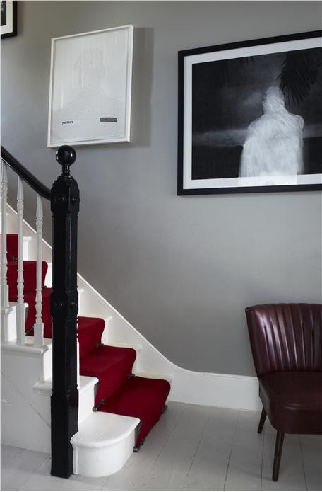 Farrow and Ball Hardwick White hallway
