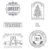 Nostalgische Weihnachten Clear-Mount Stamp Set (German) by Stampin' Up!