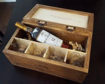 Personalized Scotch Whiskey Gift Box for Wedding Gift