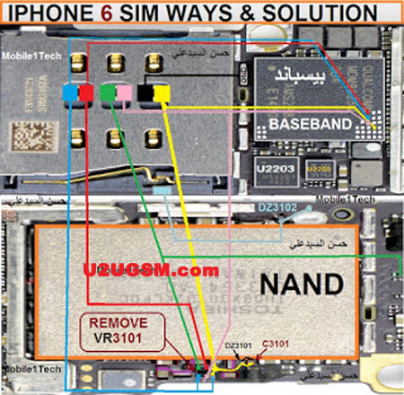 iPhone 6 Insert Sim IC Solution Jumper Problem Ways
