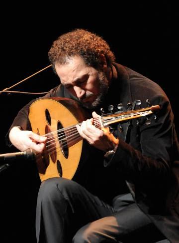 Naseer Shamma, el pasado 12 de marzo durante el concierto que ofreció en Madrid para celebrar el 10º aniversario de Casa Árabe.