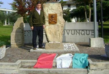 Valter Fanton e la bandiera profanata