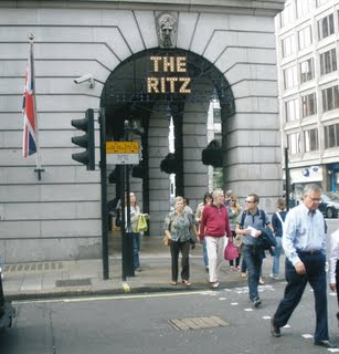 The entrance to the Ritz