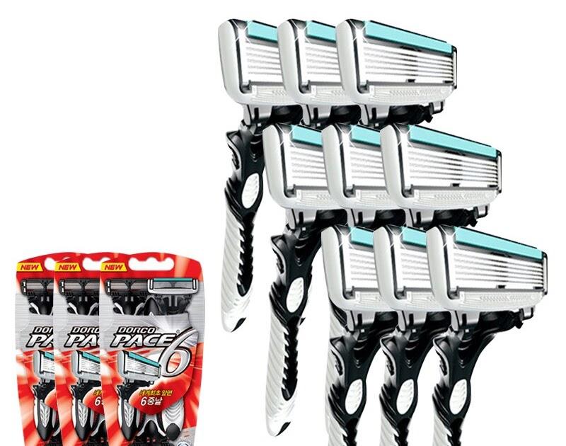 Comprar Maquinilla De Afeitar Alta Calidad Para Hombre 9 Unids lote Hoja 6  Capas Afeitado Acero Inoxidable Hojas Seguridad Online Baratos  96c80913f8df