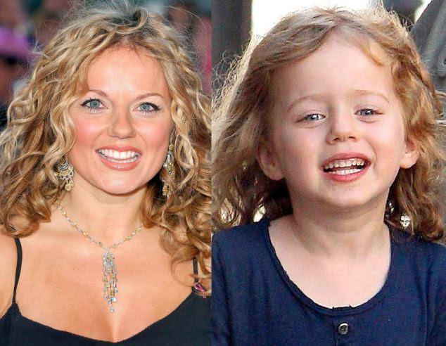 Ginger ringer: Spice Girl Geri Halliwell and daughter Ava