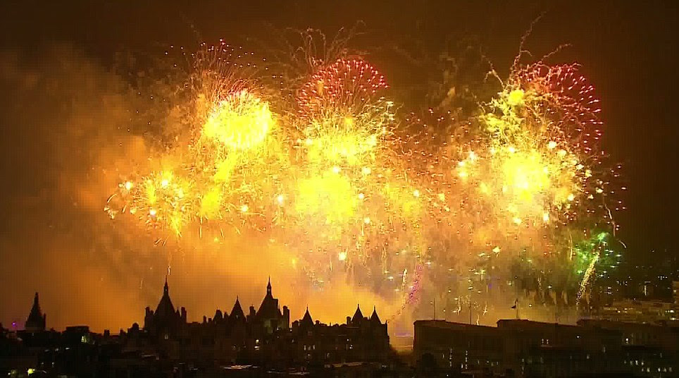 Lavish: The London Eye is barely noticeable thought the bright firework display