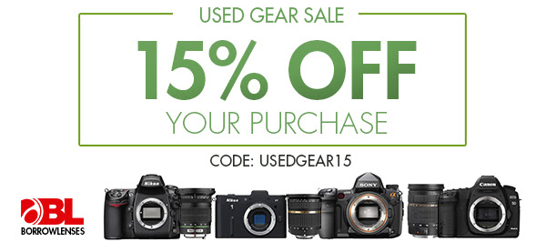 15% Off All Used Photo Gear at BorrowLenses.com