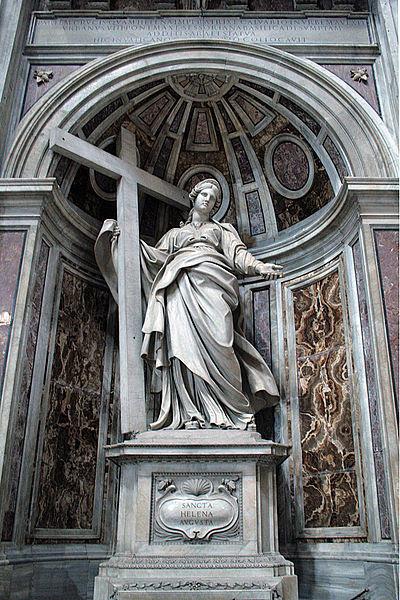 File: 0 Statue de Sainte Hélène par Andrea Bolgi - Basilique St-Pierre - Vatican.JPG