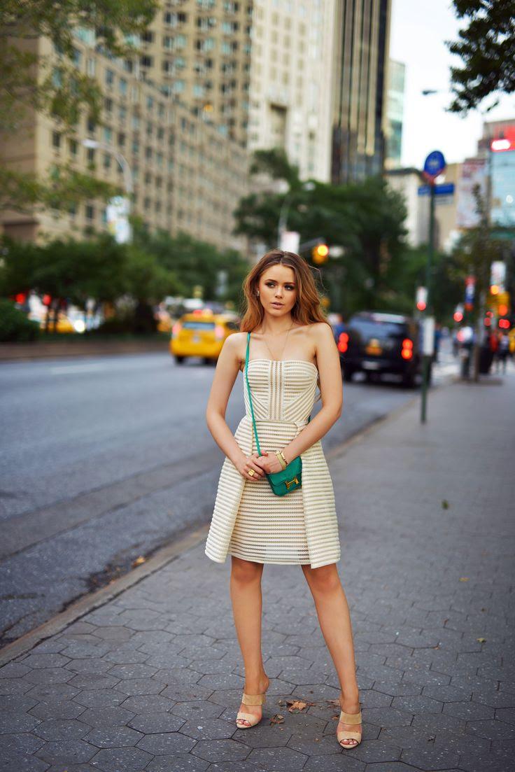 Kristina Bazan Elie Saab dress