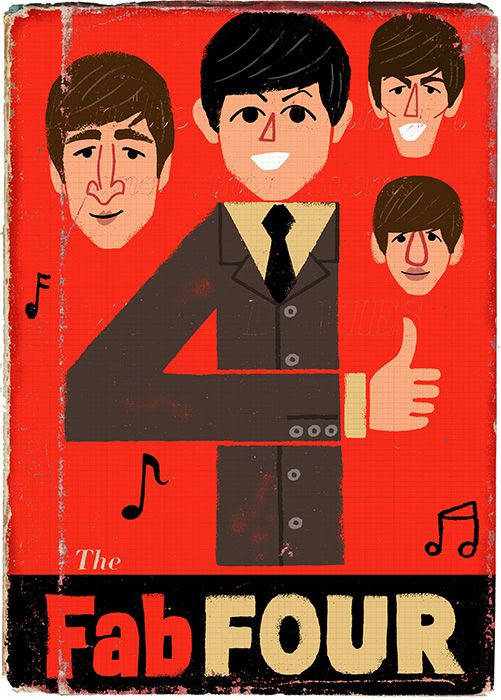 The Fab Four by Paul Thurlby
