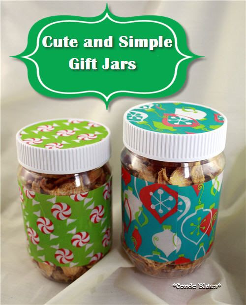how to decorate easy gift jars