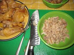 cut chicken into pieces