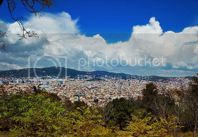 Barcelona and Hills as seen from Montjuic [enlarge]