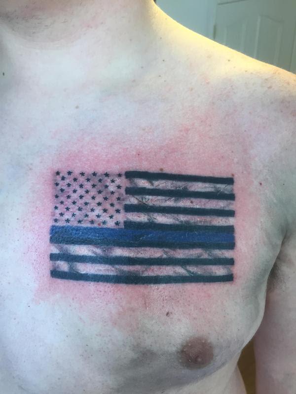 Art Immortal Tattoo Tattoos Jaisy Ayers Thin Blue Line Flag