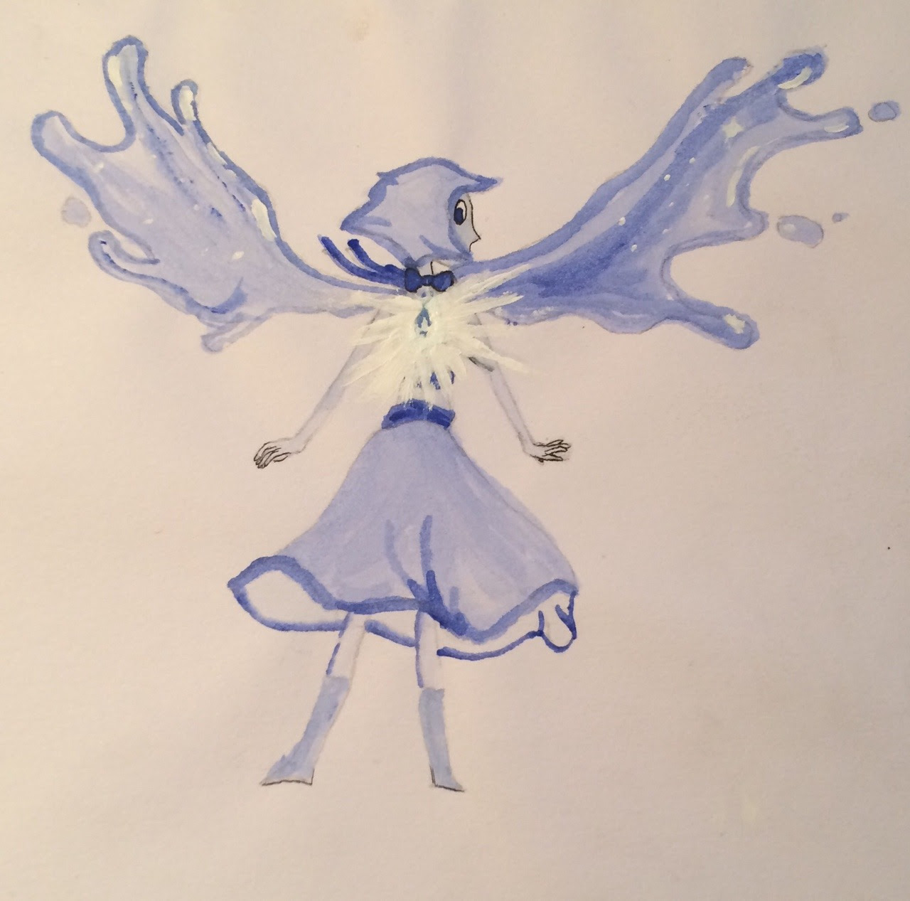 Shitty Lapis watercolour because I had nothing better to do. Happy New year everyone!