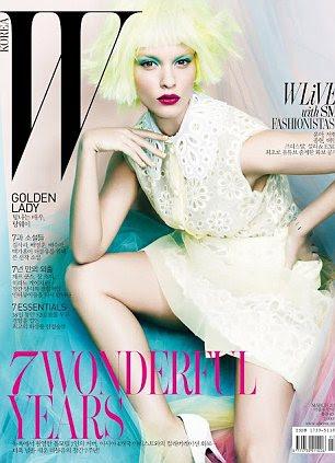 Crystal Renn na capa da W Magazine Coréia