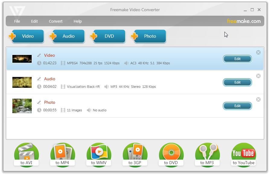 إصدار جديد من البرنامج المميز لتحويل جميع الصيغ يدعم اكثر من 200 صيغة مختلفة للتحويل مجانى Freemake Video Converter 4.0.2