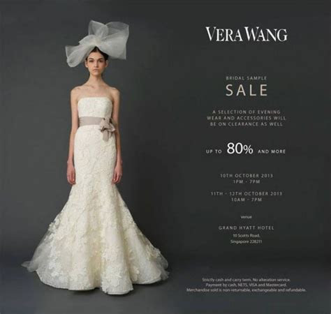 Vera Wang Bridal Sample Sale 2013, Up To 80% Discounts On