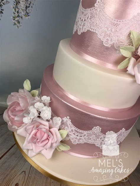 4 Tier Silk Flower Wedding Cake   Mel's Amazing Cakes