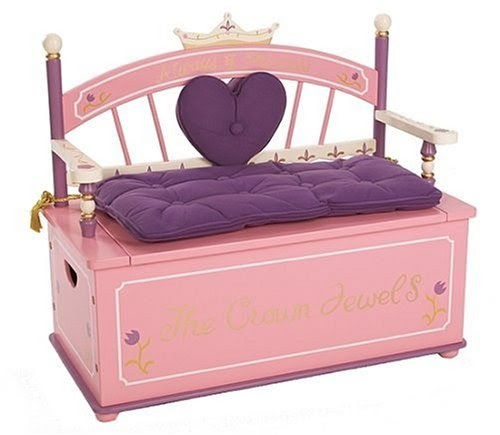 cheap toy child: Levels of Discovery Princess Toy Box Bench
