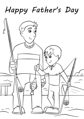 happy father's day coloring page  free printable coloring