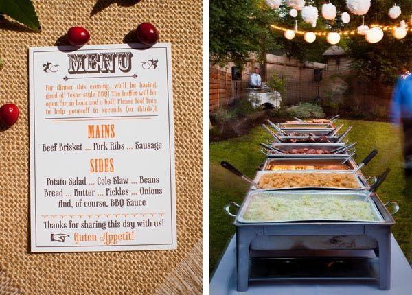 BBQ Wedding Reception Menu Ideas