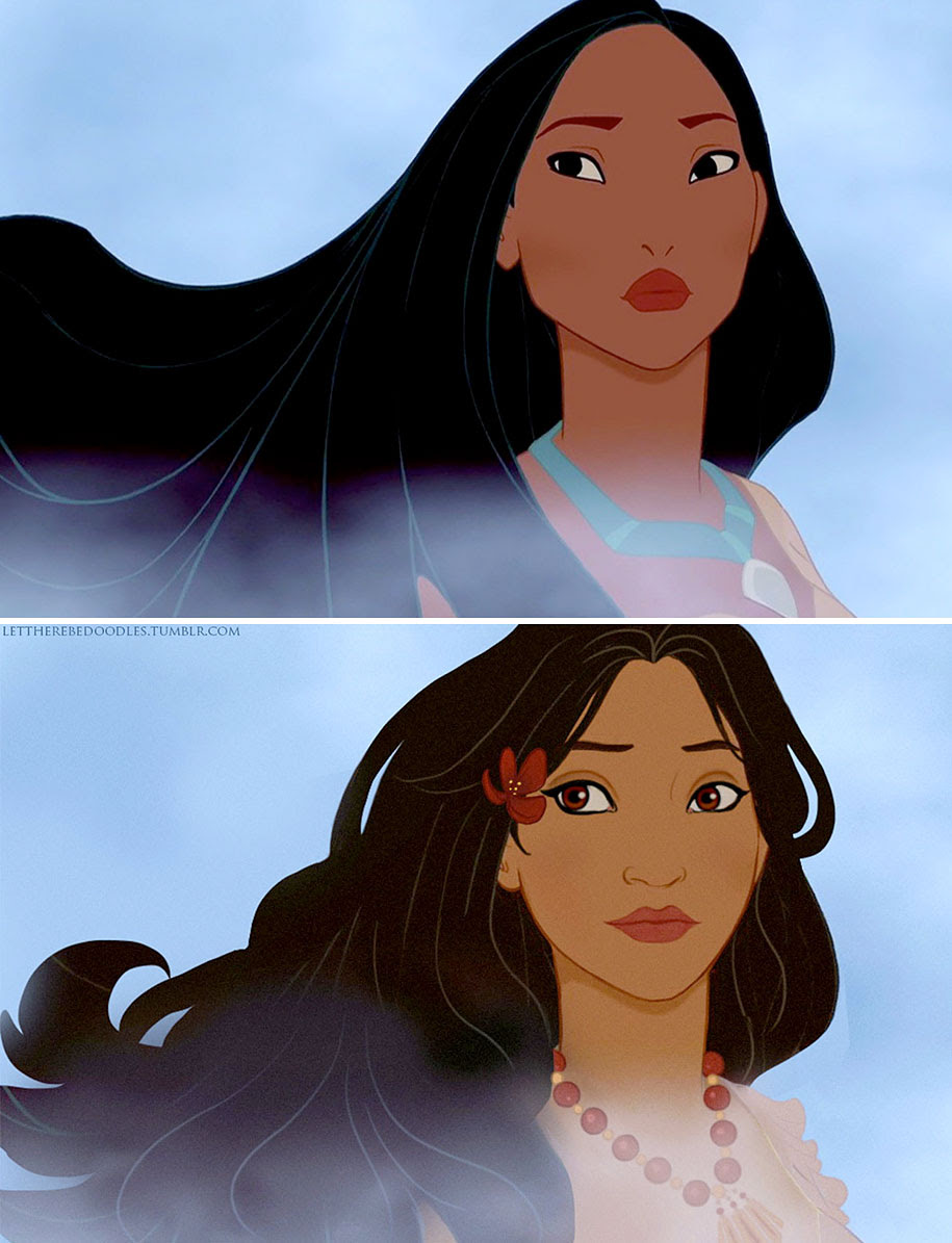 Artist Shows How Disney Princesses Would Look As Different ...