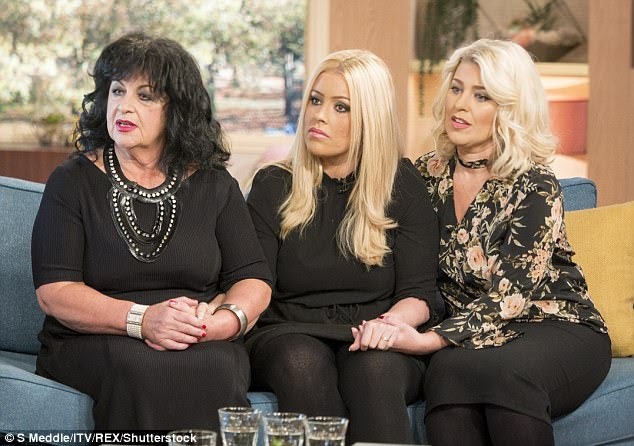 Legal fight: Ms Plummer's mother Roberta and sister Jayne are pictured on This Morning