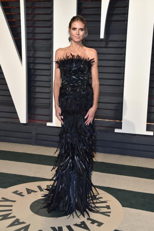 2/26/17 - Heidi Klum at the 2017 Vanity Fair Oscar Party in Beverly Hills.
