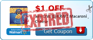 $1.00 off any ONE (1) KRAFT Macaroni & Cheese