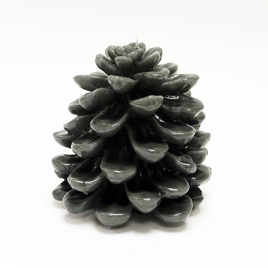 large grey pine cone candle by lindsay interiors ...