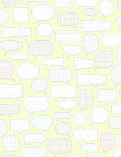 7 Patterned Conversation Bubbles (light margarita)