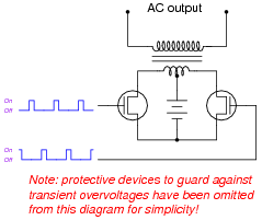 Inverter Circuit Diagram Without Center Tap Transformer ...