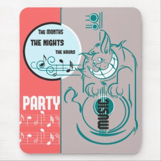 Party Music Cat mousepad