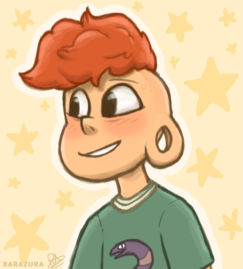 I wanted to doodle a cute and happy Lars