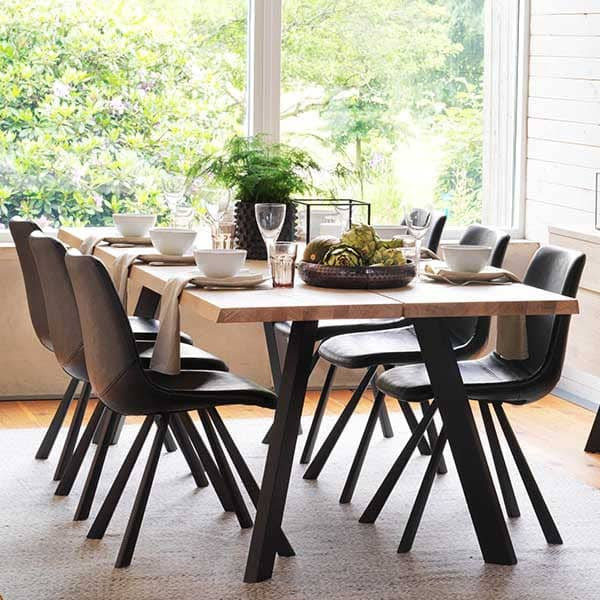 Picasso Industrial Oak Dining Table | Modish Living