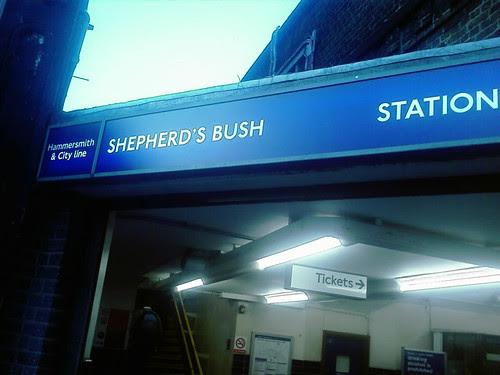 Shepherd's Bush Market Tube Station Signage by Caleb