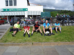 Lunch at Fort Augustus - Len, Abi, Carl, Ian and Louise