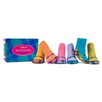 Trumpette Plaid MaryJanes Infants Kids Socks - 6 Pair