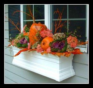 pumpkin flower box