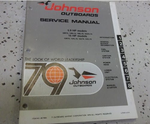 1979 Johnson Outboards 25 Hp 35 Hp Models Service Shop Manual Guide